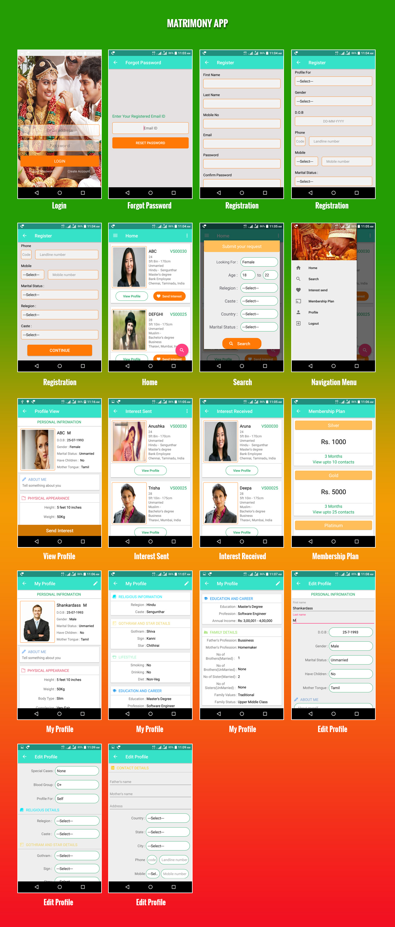 Multireligion Responsive Matrimonial App, Readymade Matchmaking App, Open Source PHP Matrimonial App,