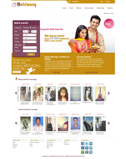 Open Source Matrimonial script - Matrimonial Readymade Software - Wedding Directory Script