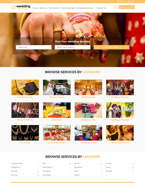 Wedding Ceremony Scripts, marriage hall booking script, event planner booking script,